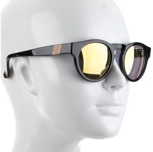 Black Westward\\Leaning round sunglasses with yell